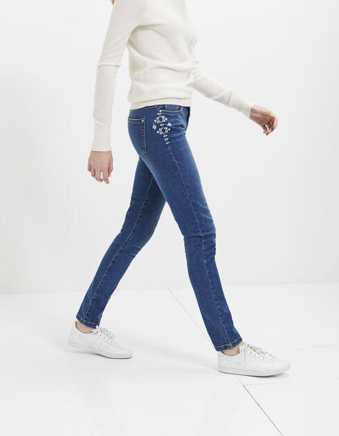 Women's blue slim jeans