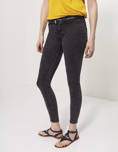 Women's biker jeggings