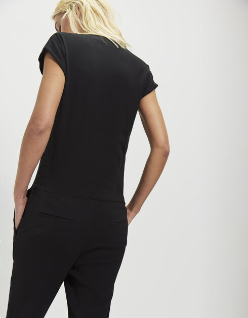 Women's black long jumpsuit
