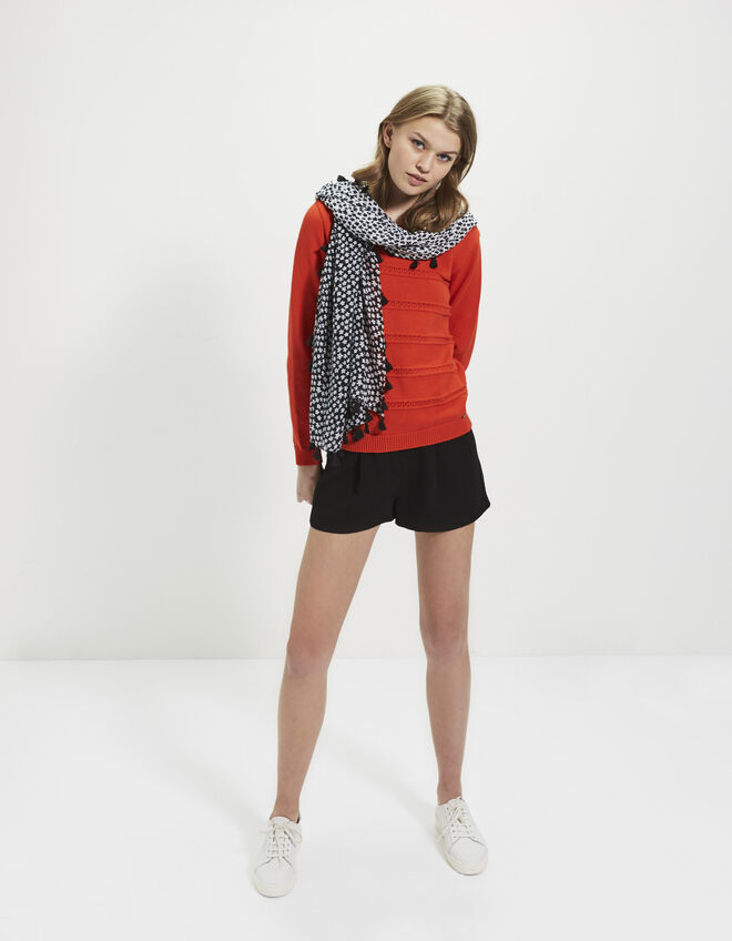 Pull rouge pour femme I.Code
