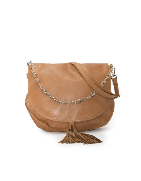 Women's camel leather bag