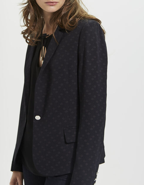 Women's jacket with tie-print