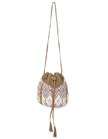 Women's bi-fabric bucket bag - I.Code