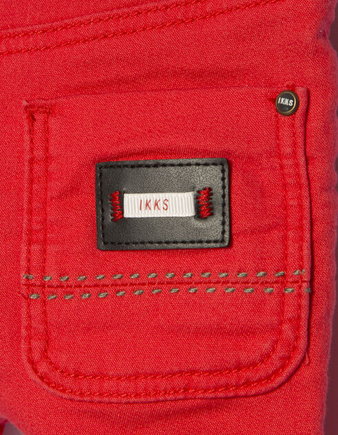Baby boys' red jeans