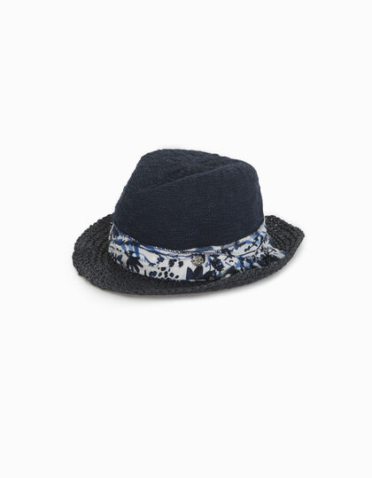 Girls' blue straw hat - IKKS Junior