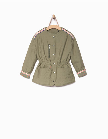 Girls' khaki jacket - IKKS Junior