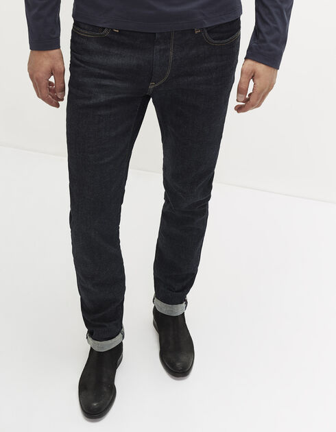Men's raw denim jeans