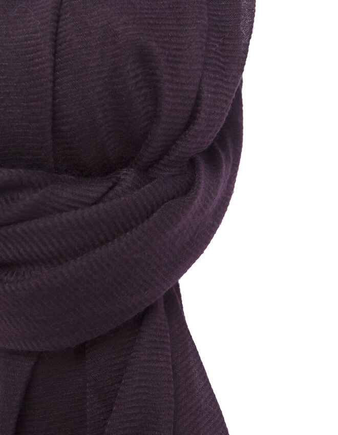 Women's plum scarf