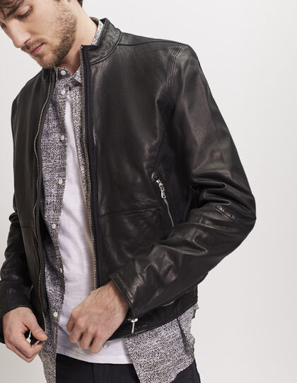Men's leather jacket - IKKS Men