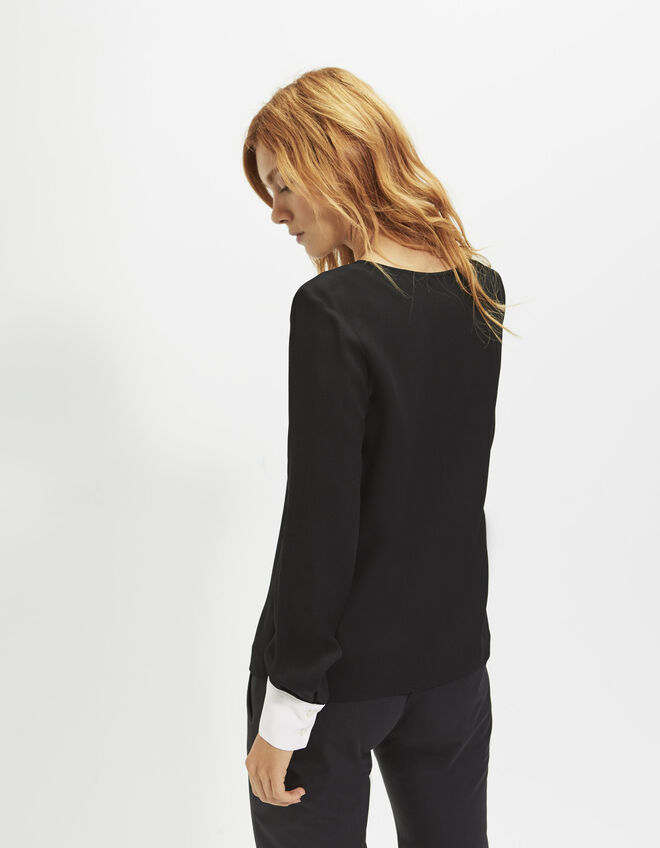 Women's black blouse