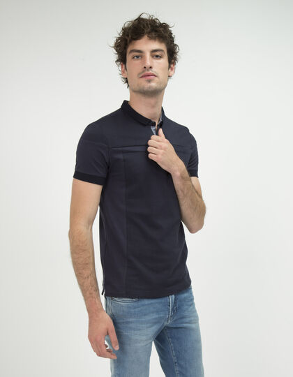 Men's navy polo shirt - IKKS Men