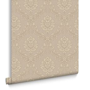 Jacquard Gold and Beige Wallpaper, , large
