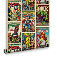 Marvel Action Heroes Multi-coloured Wallpaper, , large