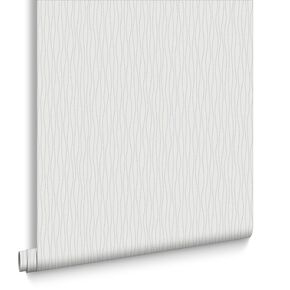Vienna White and Silver Wallpaper, , large