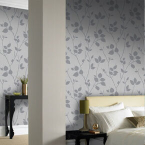 Virtue Grey Wallpaper, , large