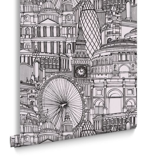 Londinium Black and White Wallpaper, , large