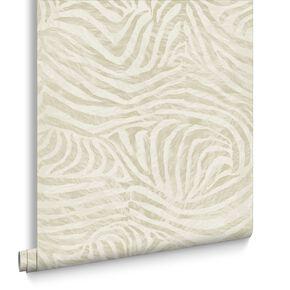 Zebra Taupe Wallpaper, , large