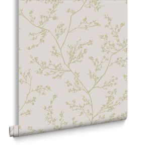 Springtime Beige and Gold Wallpaper, , large