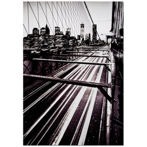 Bedruckte Leinwand mit den Lichtern der Brooklyn Bridge, , large