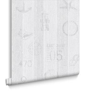 Nautical Grey Wallpaper, , large
