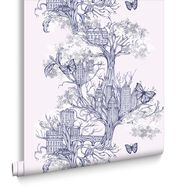 Urban Tree Lilac Wallpaper, , large