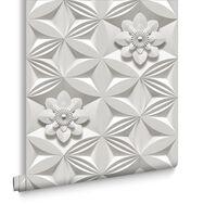 Wall Flower Limestone Wallpaper, , large