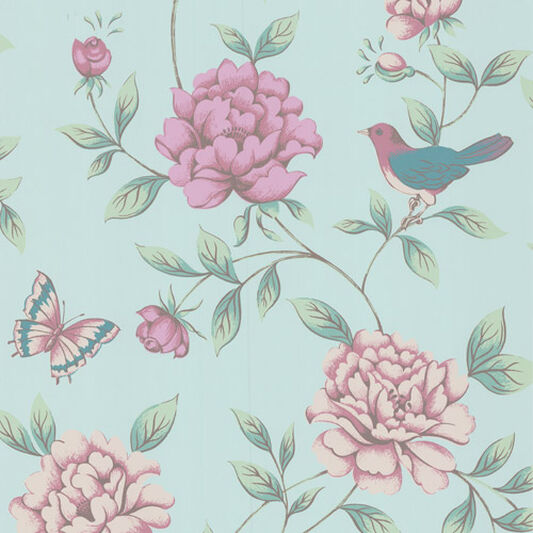 Isabelle Blue Wallpaper, , large