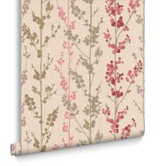 Berries Red and Pink and Gold Wallpaper, , large
