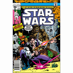 Han Solo and Chewbacca Comic-Leinwand, , large