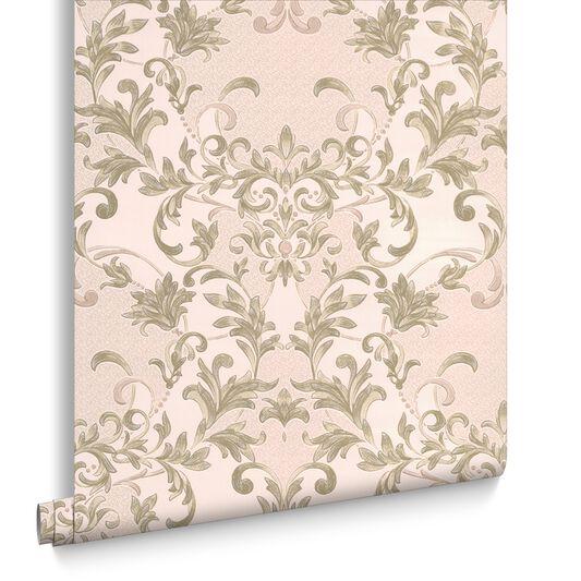 Abigail Soft Green Wallpaper, , large