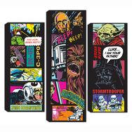 Collage BD Star Wars - jeu de 3 toiles, , large