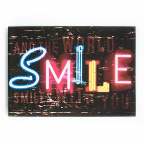 Smile Printed Canvas, , large