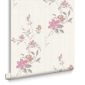 Reed Pink Wallpaper, , large