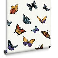 Flutterby Pearl Wallpaper, , large