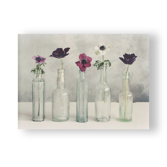 Floral Row Printed Canvas, , large