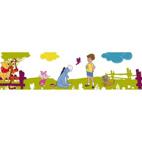 Winnie the Pooh Summer Stroll Border, , large