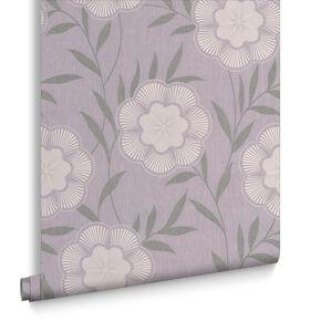 Flora Lavender Wallpaper, , large