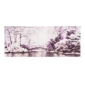Pont Toiles imprimées de forêt de Watercolour, , large