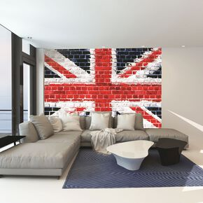 Union Brick Wall Mural, , large