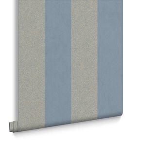 Artisan Stripe Blue Wallpaper, , large