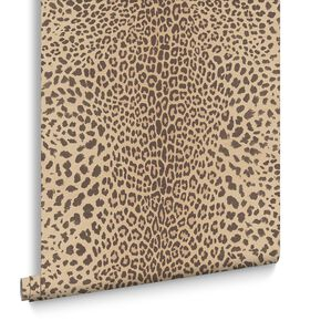 Leopard Beige Wallpaper, , large