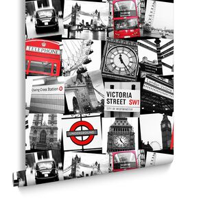 London Montage Black et Red, , large