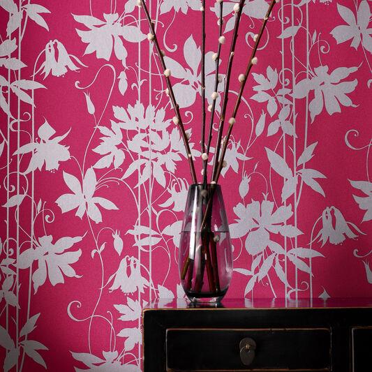 Paradise Garden Selaggio Pink Wallpaper, , large