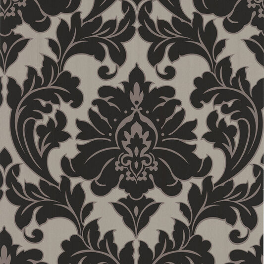 Majestic Black and Gold Wallpaper, , large