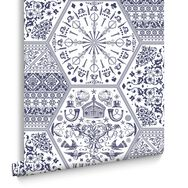 World Heritage Blue and White Wallpaper, , large