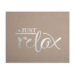 Just Relax Embellished Fabric Canvas, , large