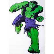 Marvel Comics Lebensgroßer Wandsticker Hulk, , large