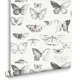 Butterflies Taupe et Cream, , large