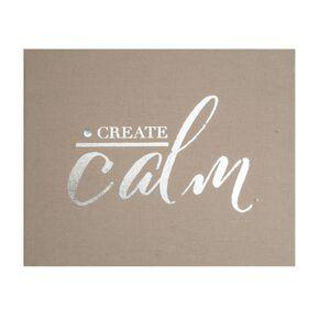 Tableaux en tissus embellis Create Calm, , large