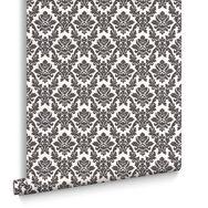 Damask Black and White Wallpaper, , large